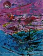 tableau abstrait mouvement poetique : Aglou
