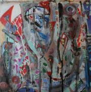 tableau abstrait mouvement poetique : Sentiments non distingués
