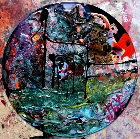 TABLEAU PEINTURE Matière Mouvement Poétique Abstrait Acrylique  - The floating gate