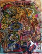 tableau abstrait poetique : Les ronds ronds