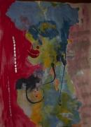 tableau abstrait femme poetique : Périgourdine