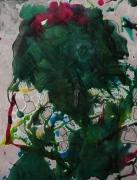 tableau abstrait mouvement poetique : La tête est dans le pré