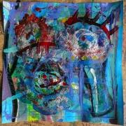 tableau abstrait matiere mouvement poetique : Blue Valentine