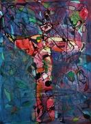tableau abstrait matiere mouvement poetique : de fil en bulles