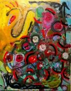 tableau abstrait mouvement matiere poetique : Insolation