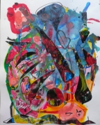 tableau abstrait matiere mouvement poetique : La sratégie de l'escargot