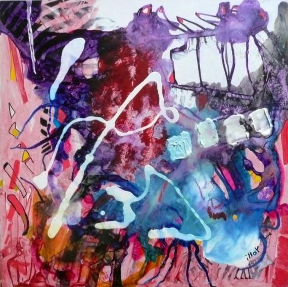 TABLEAU PEINTURE Matière Mouvement Poétique  - Les vies dansent