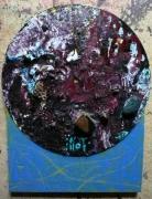 tableau abstrait matieres poetique : Gemme