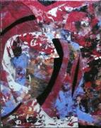 tableau abstrait matiere mouvement poetique : Seven bloods