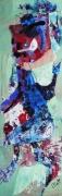 tableau abstrait matiere mouvement poetique : Lutinette
