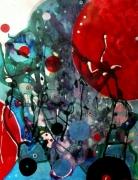 tableau abstrait mouvement poetique : Dévoreurs de mondes