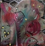 tableau abstrait mouvement poetique : sales ghosts