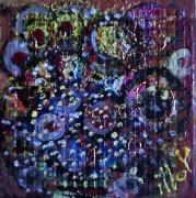 tableau abstrait matiere mouvement poetique : Floraison automnale