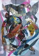 tableau abstrait matiere mouvement poetique : Etisoiruc