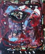 tableau abstrait matiere mouvement poetique : Oxydé