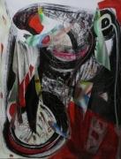 tableau abstrait mouvement poetique : Baiser mortel