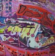 tableau abstrait mouvement poetique : Carpe diem