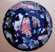 tableau abstrait matiere mouvement poetique : Face de moon