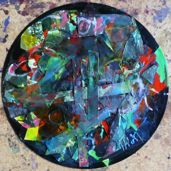 TABLEAU PEINTURE Matière Poétique Abstrait Collage  - Projet de la matière