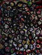 tableau abstrait multicolore multidetails reliefs et perles poetique : De la pluralité des mondes