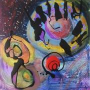 tableau abstrait matiere mouvement poetique : Sur la piste d'Andromède