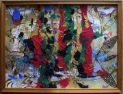 tableau abstrait matiere mouvement poetique : Tout feu de camp!