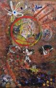 tableau abstrait matiere couleur cuivre nacre poetique : Astro