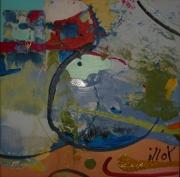 tableau abstrait design poetique : Nonet 7