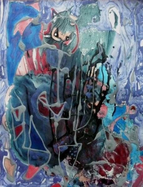 TABLEAU PEINTURE Mouvement Matière Poétique Abstrait Acrylique  - C'est l'hiver?