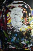 tableau abstrait matiere mouvement poetique : Et Alice plongea...