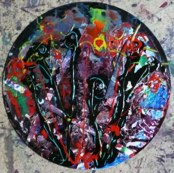TABLEAU PEINTURE Matière Mouvement Poétique Abstrait Acrylique  - Cet été-là....