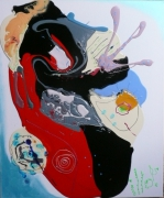 tableau abstrait matieres poetique : Coeur vaillant