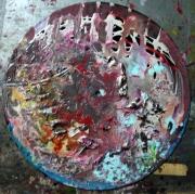 tableau abstrait matiere poetique : La face cachée