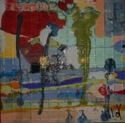 tableau abstrait design poetique : Nonet 8