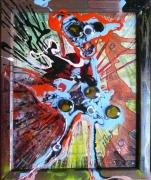 tableau abstrait matiere mouvement poetique : Olhos d'agua 2