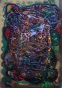 tableau personnages matiere relief tete poetique : Peluche