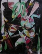 tableau abstrait mouvement poetique : Hic et nunc