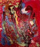 tableau abstrait mouvement matiere poetique : Incarnation