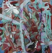 tableau abstrait mouvement poetique miroir : Kenzo