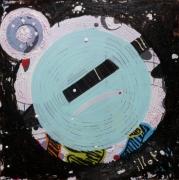 tableau abstrait matiere mouvement poetique : Tambour battant