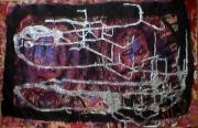 tableau abstrait effet miroitant poetique : Peau de rhino