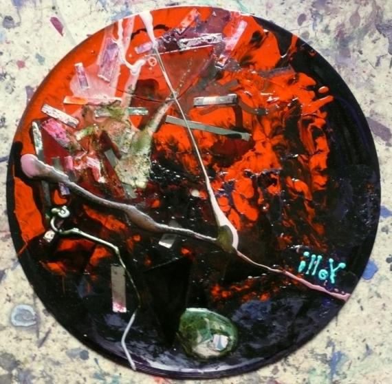 TABLEAU PEINTURE Matière Mouvement Poétique Abstrait Acrylique  - Dans la brume éclectique
