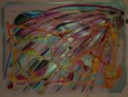 tableau abstrait iridescence matiere poetique : Nacrés neurones