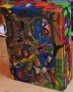 autres abstrait lignes et courbes multicolore multiface poetique : So square