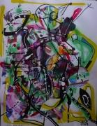 tableau abstrait matiere mouvement poetique : Le hic et le chaos