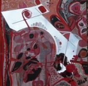 tableau abstrait mouvement poetique miroir : Eiffel flower