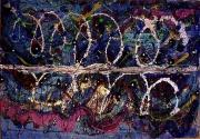 tableau abstrait matiere reliefs mouvement multispace poetique : Miroir d'ondes