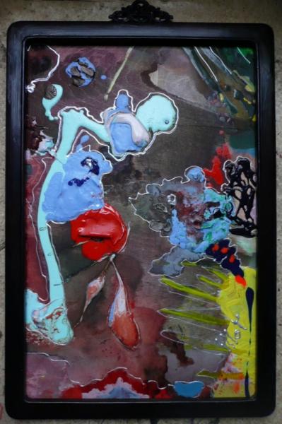 TABLEAU PEINTURE Matière Poétique Abstrait Acrylique  - St Georges