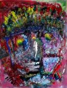 tableau abstrait matiere poetique : Mendiant d'azur
