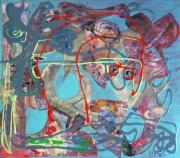 tableau abstrait matiere mouvement poetique : Le baiser d'Eole